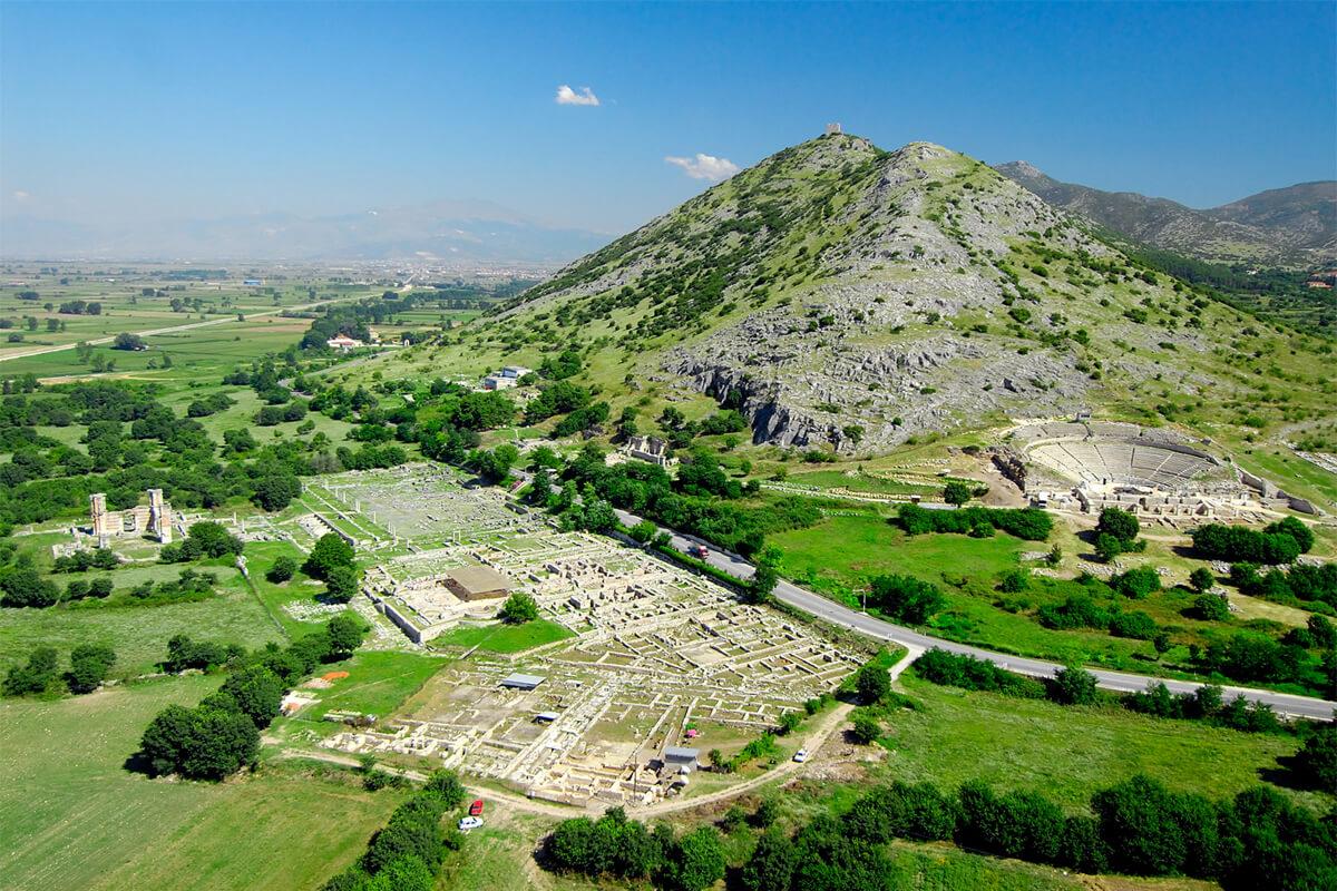 Γενική άποψη του αρχαιολογικού χώρου Φιλίππων - φωτογραφία Αχιλλέας Σαββόπουλος