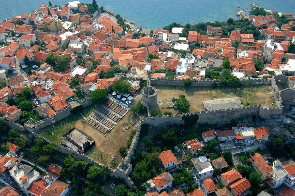 To φρούριο της Καβάλας από ψηλά, φωτογραφία Αχιλλέας Σαββόπουλος