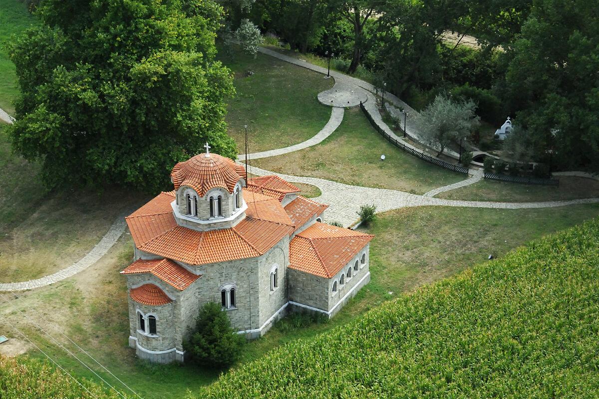 Ιερό Βαπτιστήριο Αγίας Λυδίας της Φιλιππησίας και υπαίθριο βαπτιστήριο στον ποταμό Ζυγάκτη - Φωτογραφία Artware