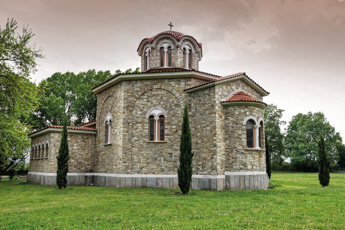 St. Lydia's of Philippi holy baptistery - Photo by Giannis Giannelos