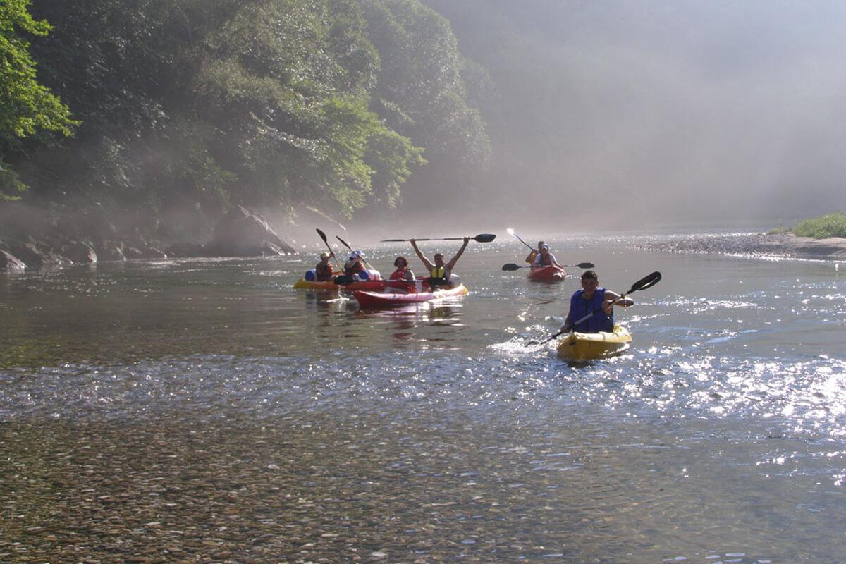 Kanoe-cayak at Nestos river - Photo by Dimofelia's archive