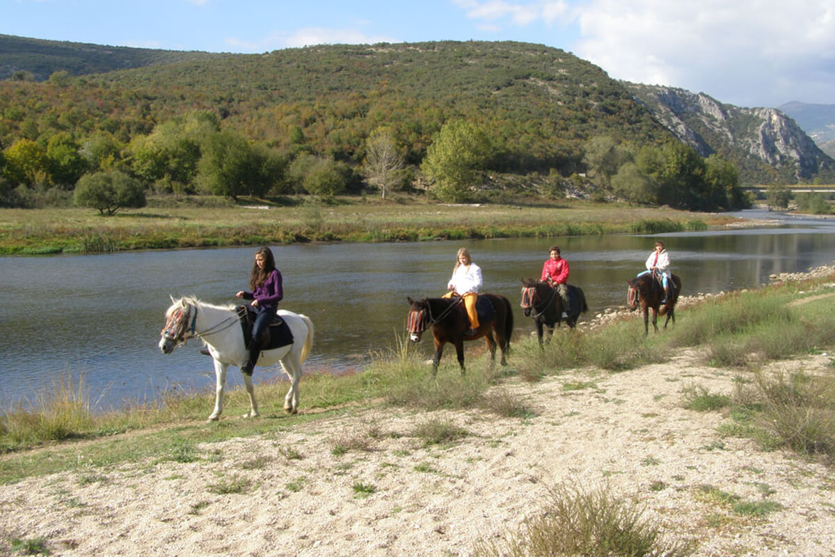 Horseriding at Nestos river - Photo by Iraklis milas