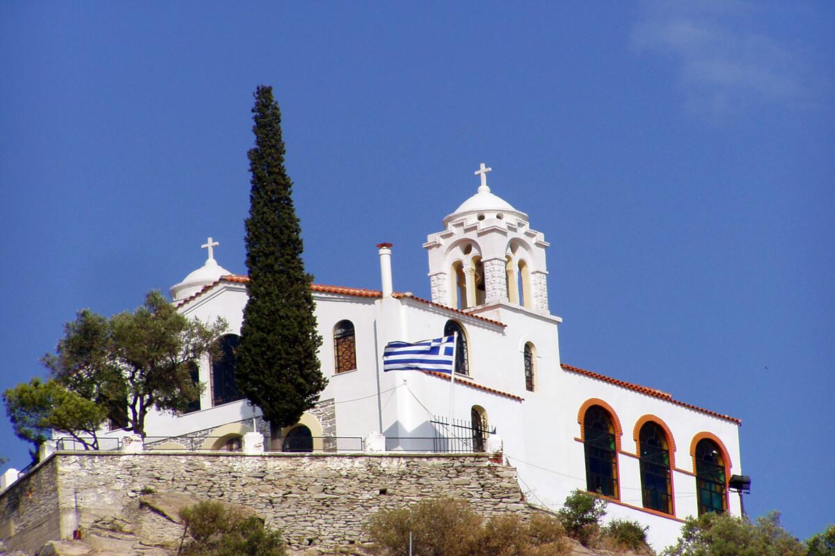 Heilige Kirche des Propheten Elias Fotoarchiv von Dimofelia