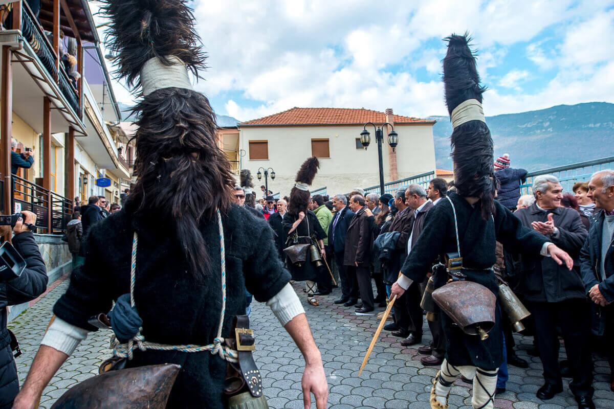 "People celebrating the ""Arapis"" custom - Photo by emtgreece.com"