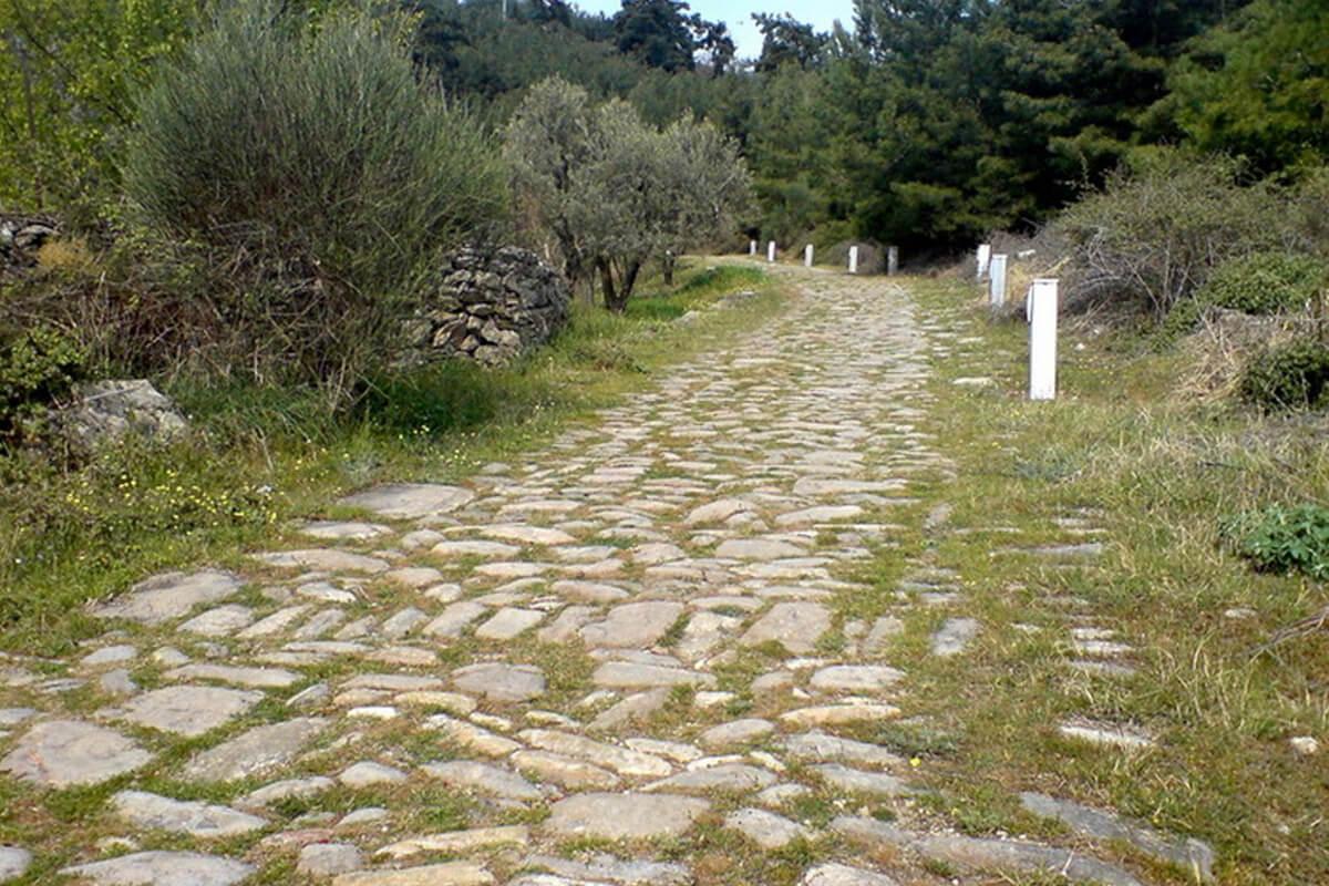Τμήμα αρχαίας Εγνατίας Οδού - Φωτογραφία ΕΟΣ Καβάλας