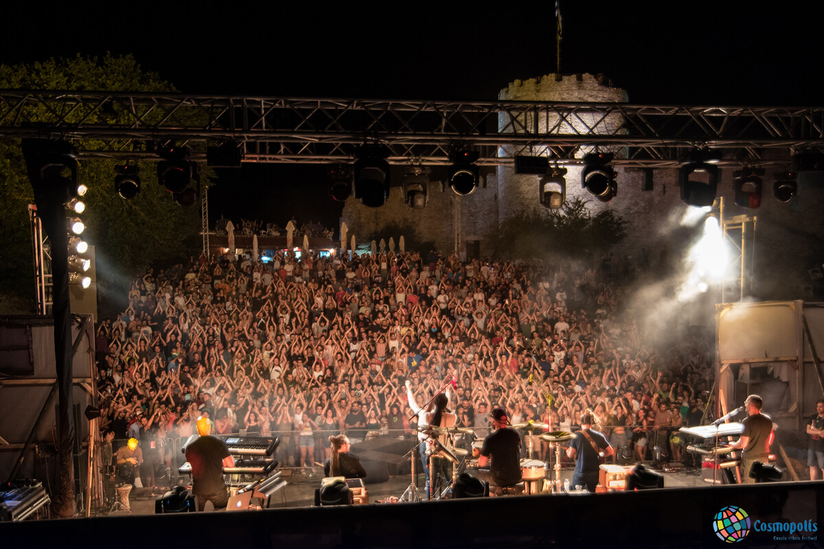 Dub Inc performing at the castle of Kavala - Photo by Giannis Magdalasidis