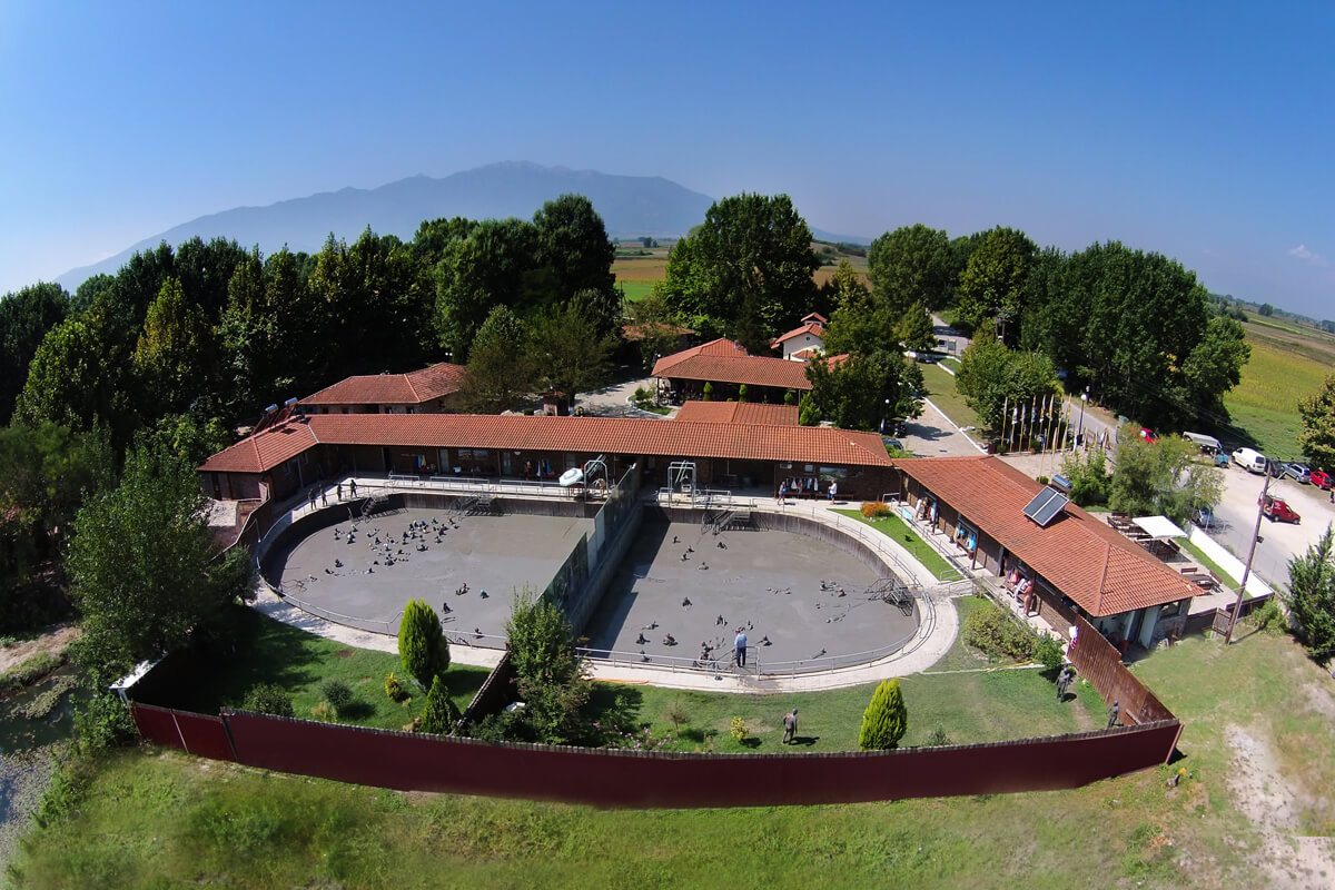 Aerial photo of Krinides Mudbaths facilities - Photo by Artware