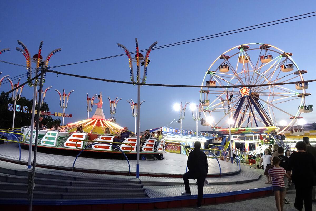 Luna park в порту Кавалы