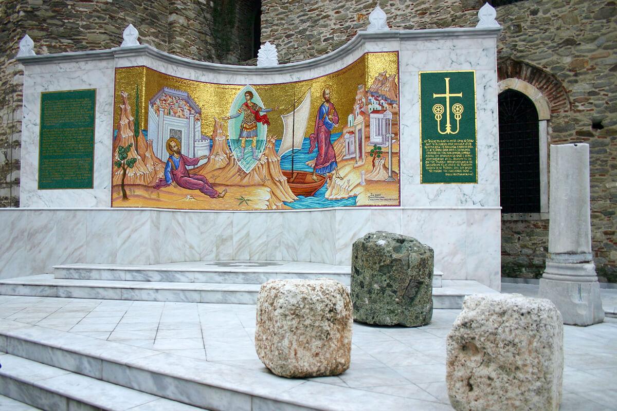 Памятник Апостолу Павлу, Фотография из архивов ДИМОФЕЛИИ