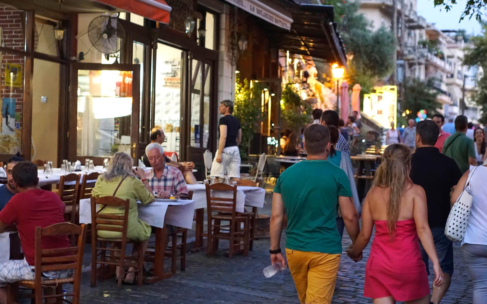 Die Altstadt von Kavala Foto von Artware